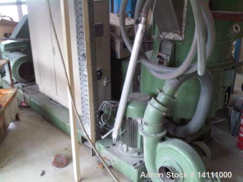 Used-Erema RM60-E Plastic Recycling Line consisting of:  (1) Erema agglomerator; (1) Erema 60 mm single screw extruder with ...