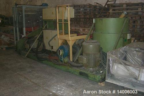 Used-Erema RGA 80 Extruder with compactor (without tool/knife), with venting port, filter and control cabinet unit. Without ...