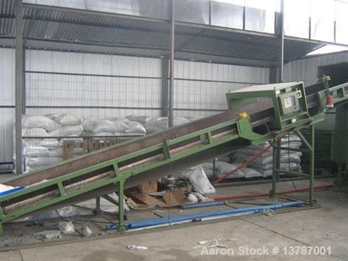 Used-Erema RGA 120. Approximate 32:1 L/D ratio, capacity of 1500 to 1600 lbs/hour. Electrically heated, air cooled, double v...