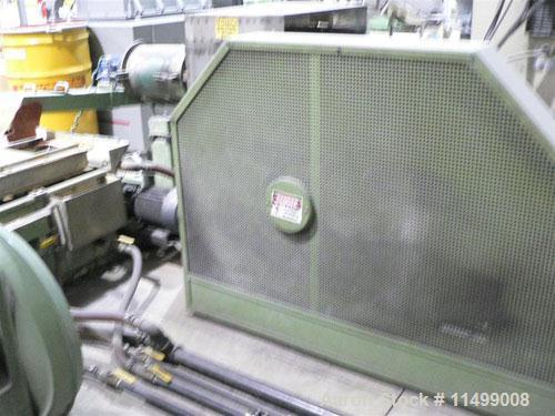 Used-80mm Erema Pelletizing System, Model RGA80. 45 kW motor, 460/60/3. Comes with vacuum loader, material hopper, hydraulic...