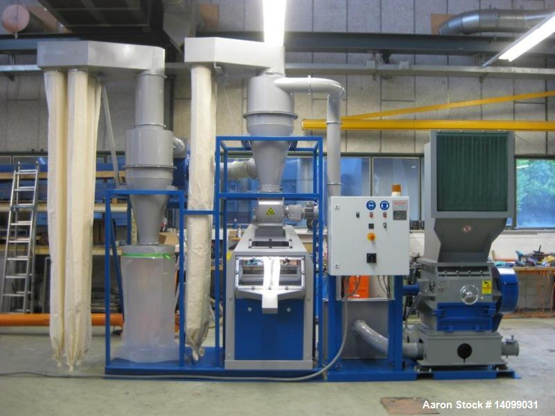 Used- S&P Cable Granulation Plant. Including: mill, blower, drier, electrical control cabinet. Mounted on two skids. Total d...