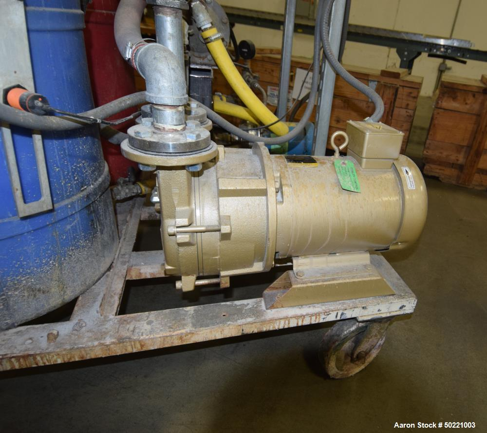 Used- 3 Roll Chill Roll Stack is a hydraulically loaded Battenfeld-Gloucester in