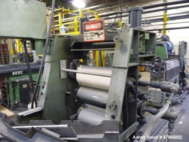 """Used- Davis Standard 3- Roll Sheet Stack, 30"""" Wide, Model F8082, SO#98080. Includes 10' Long idler conveyor, pull roll stand..."""
