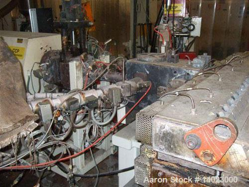Used-Egan 5 Layer Sheet Extrusion Line for the production of PS/PP barrier films with a maximum output 1000-1300 lbs/h (600 ...