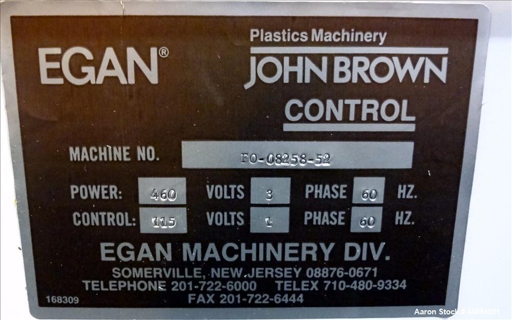 Used- Egan Three Roll Horizontal Sheet Stack