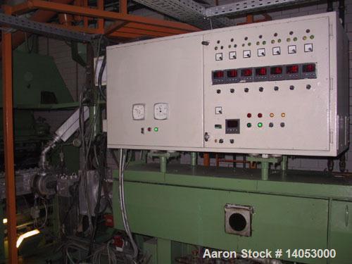 Used-Farrel Bridge PS/PP Thermoforming Line consisting of:  (1) Farrel Bridge single screw extruder, 100/32 D with degassing...