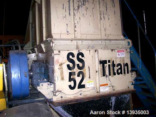 "Unused-Marathon Shredder, Model SS-52-100, Single Shaft Shredder. 51"" x 58"" throat size opening, hydraulic feed, 100 horsepo..."