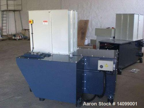 "Used-Unused-DHB DH 600-K Single Shaft Shredder. 28 rotary knives with a size of 1.6"" x 1.6"" (40 x 40 mm), and 1 row of stati..."