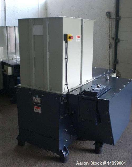 """Used-Unused-DHB DH 600-K Single Shaft Shredder. 28 rotary knives with a size of 1.6"""" x 1.6"""" (40 x 40 mm), and 1 row of stati..."""