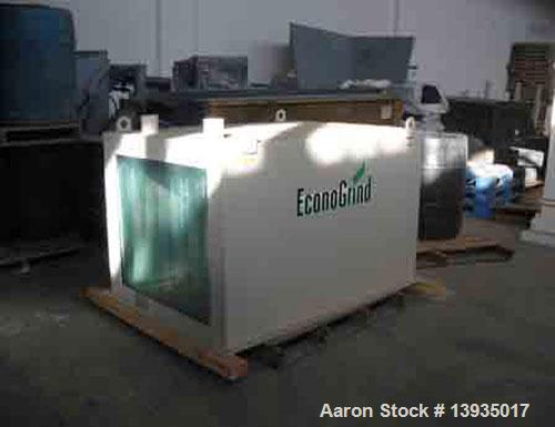 "Used-EconoGrind single shaft shredder, model ESS 1200. Feed throat opening 55.9"" x 49.4"", rotor diameter 18"", hyd ram, 100 h..."