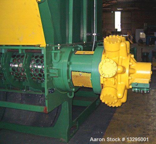 Used-Granutech Saturn Single Shaft Hydraulic Shretter (Roto-Grind), model M110H. 100 hp hydraulic drive powered by a Hydrost...