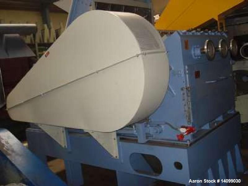 Used- Herbold SMS 80/120-S7-2 Single Rotor Shredder. Hydraulic opening, equipped with new knives. Driven by a 176 HP (132 kW...