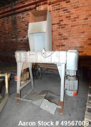 "Hosokawa Polymer Systems Twin Shaft Crusher, Model HPS 2218. (1) Carbon steel rotors approximate 6""..."