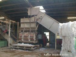Used- Carbon Steel Zeno Single Roll Shredder, Type ZTLL 2000 x 1900