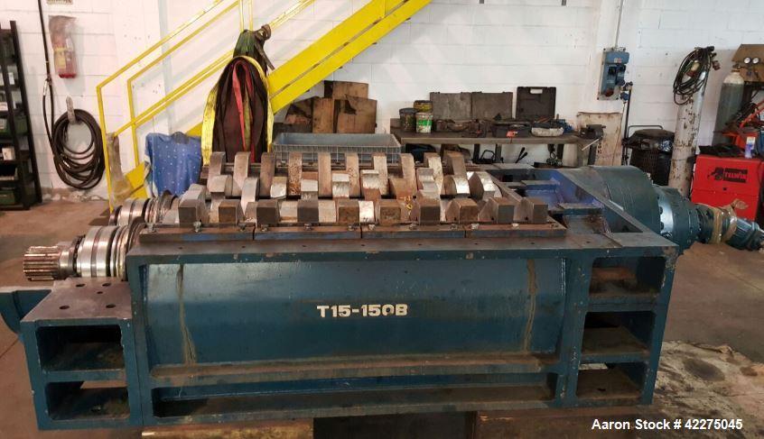 Used- Morando Dual Shaft Shredder, Model T15-150B