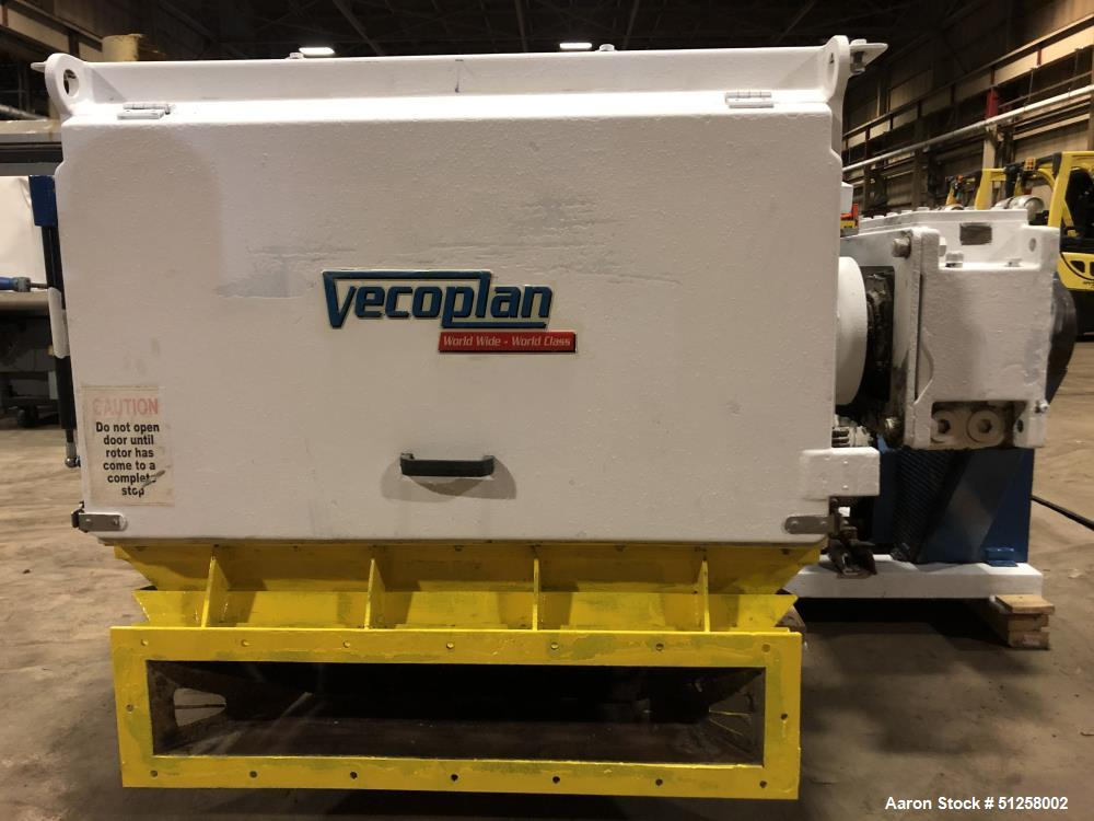 Used- Vecoplan Single Shaft Shredder with Conveyor