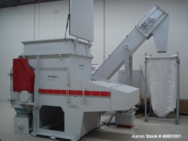 Used- Vecoplan VAZ 1300 M KN Single Rotor Shredder.