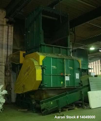 "Used-Vecoplan Model VAZ 200/200 SLF Shredder.  Maximum capacity 2200 lbs (1000 kilo/h).  Rotor diameter 19.4"" (495 mm).  Rot..."
