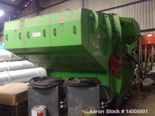 "Used-Vecoplan Shredder, type VAZ 2000M-RDF/SRF. Material of construction is carbon steel. 3 rows rotor. 25"" diameter x 78"" l..."