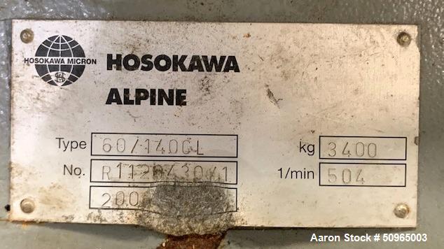 Used- Hosokawa Alpine CL Series Granulator, Model 60/140 CL