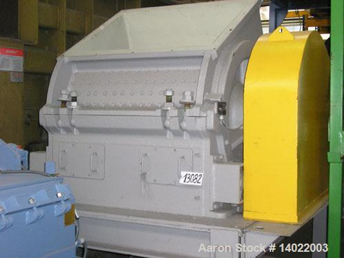 Used-Alpine Granulator, Type 80/100. 800 mm diameter x 1000 mm straight side rotor. 6 x 5 rotor blades, 8 x 5 stator blades....
