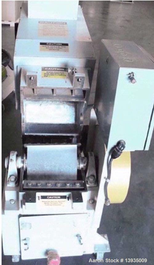 """Used-Battenfeld Gloucester 1012-BP-10. 10"""" x 12"""" throat size opening, 10 hp, 2 rotor knives, 1 bed knife, 230V, includes con..."""