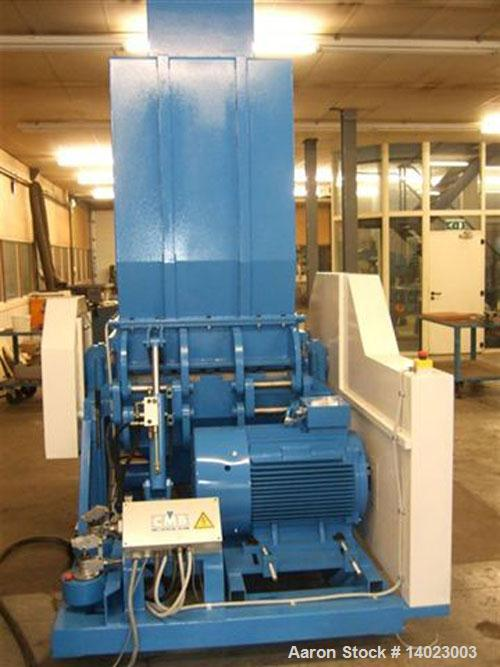 """Used-CMB MS-610-NC Granulator. 39"""" x 23"""" (1000 x 590 mm) hopper opening. Rotor width 39"""" (1000 mm) with (4) 10"""" (250 mm) uni..."""
