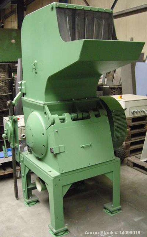 Used-Condux CS 450/600-AS Cutting Mill Granulator with feed hopper and auction trough.  40 Hp (30 kW) motor.  Feed opening 2...