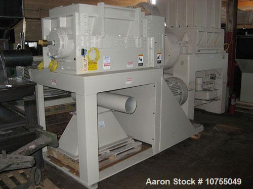 "Used-Cumberland 1837B Granulator. Infeed: New standard try or conveyor feed (customer to specify). Cutting Chamber: 18"" x 37..."