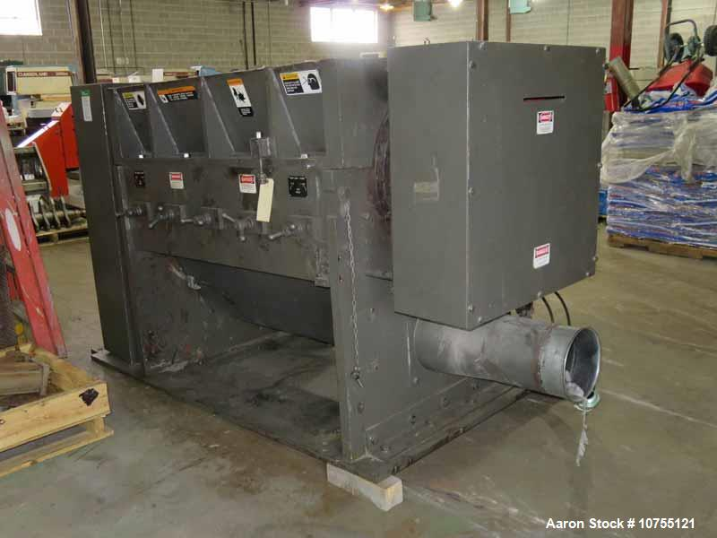 Used- CUMBERLAND MODEL C1400 GRANULATOR, S/N 53320-14001, 18? X 56? FEED THROAT, 5 KNIFE TWIN SHEAR / HIGH SHEAR ROTOR, 2 BE...