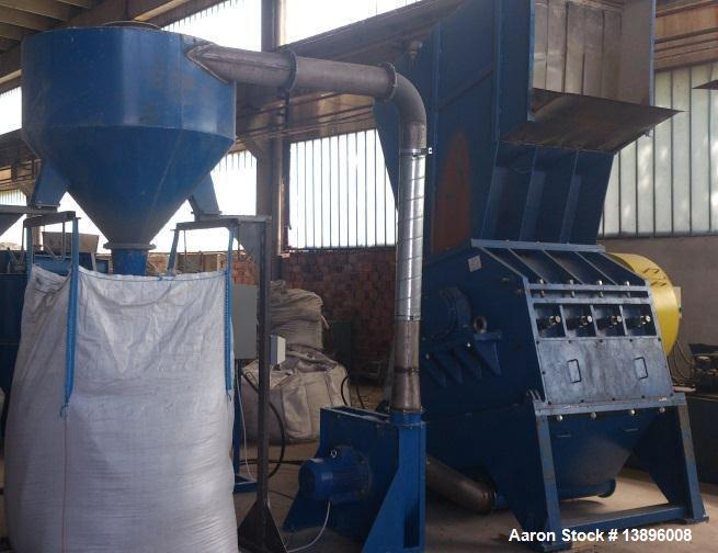 "Used-Desislava 800/1200 Granulator.  Capacity 5511 lbs/h (2,500 kg/h).  Rotor diameter 31.5"" (800 mm), length 47.2"" (1200 mm..."