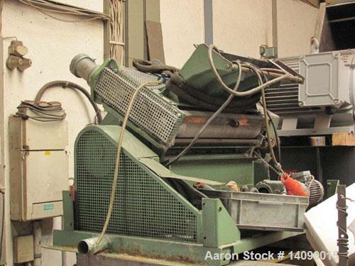 Used-Dreher StG 26/82 Skeletal Waste Granulator with roller intake for thermoforming film.  10 Hp (7.5 kW) motor.  Feed open...