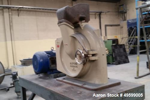 Used- Hosokawa Alpine Mill, Model UP500. Series LFH257725007 / 37566.4. 30 HP Motor, 460 Volt.