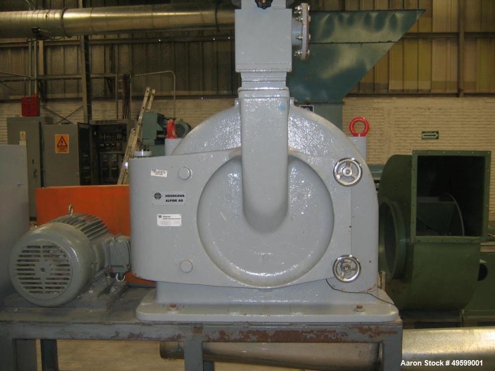 Used- Hosokawa Alpine Mill, Model UPZ500. Series LFH257725005. 30 HP Motor, 460 Volt.