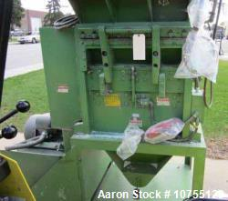 "Used- Cumberland, Model 2428I Granulator. 24"" x 28"" feed throat. 3 knife twin shear open rotor. 2 bed knife. 40 hp 230/460 v..."