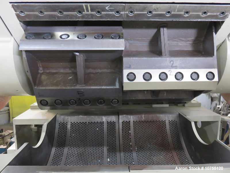 """Used- NELMOR MODEL G2436M1 GRANULATOR, S/N 7405-7208, 24"""" X 36"""" FEED THROAT, 5 KNIFE STAGGERED HOG ROTOR, 2 BED KNIFE, IN-FE..."""