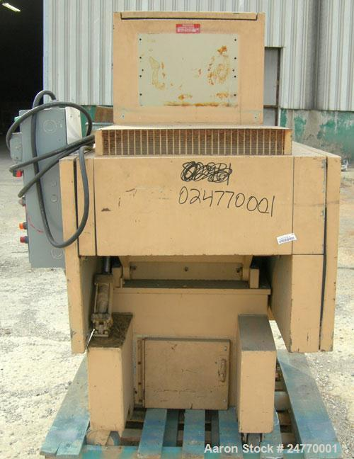 """Used- Nelmore Granulator, Model RG1220M1. Approximately 12"""" diameter x 20"""" wide 3 bolt-on blade closed rotor, (2) bed knives..."""