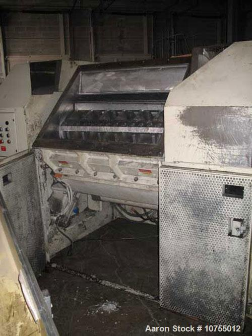 "Used-Nelmor model RG2244 granulator. 22"" x 44"" feed throat, 5 knife open rotor, 2 bed knife, 150 hp, 460 volt motor, dual fe..."