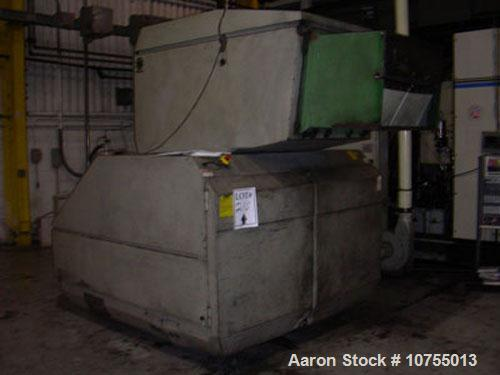 "Used-Rapid model 2436 granulator. 24"" x 36"" feed throat, 3 knife open rotor, 2 bed knife, 125 hp, 460 volt motor, dual flywh..."