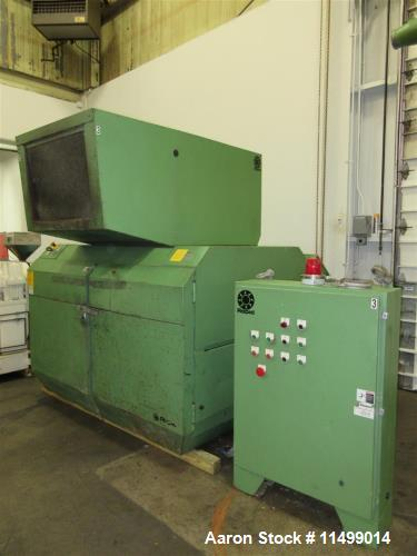 """Used- 24"""" x 36"""" Rapid Granulator, Model 2436C. 2000 Vintage. Reliance 100HP AC Motor, open rotor configuration with 3 fly kn..."""