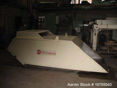 Used-Rotogran Model WO-3052-BF Granulator. 3 knife open rotor, 2 bed knife, 200 hp, 460 volt, 1750 rpm motor. Dual flywheel,...