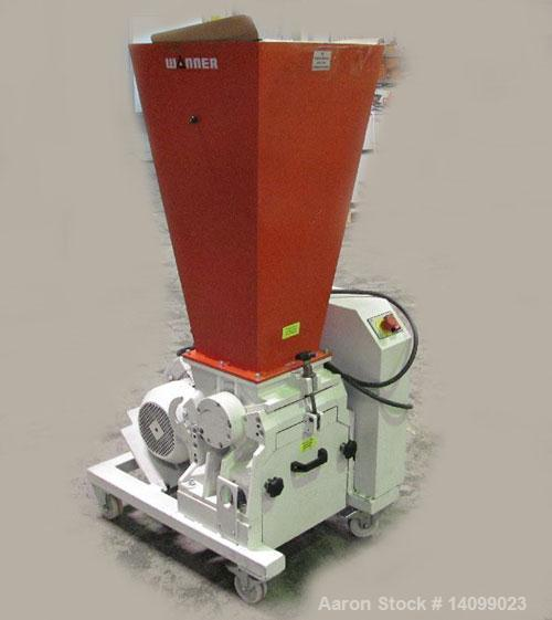 """Used-Wanner D25.25 Granulator with suction trough.  Feed opening 9.8"""" x 15.1"""" (250 x 385 mm).  (18) Rotor knives.  Rotor dia..."""