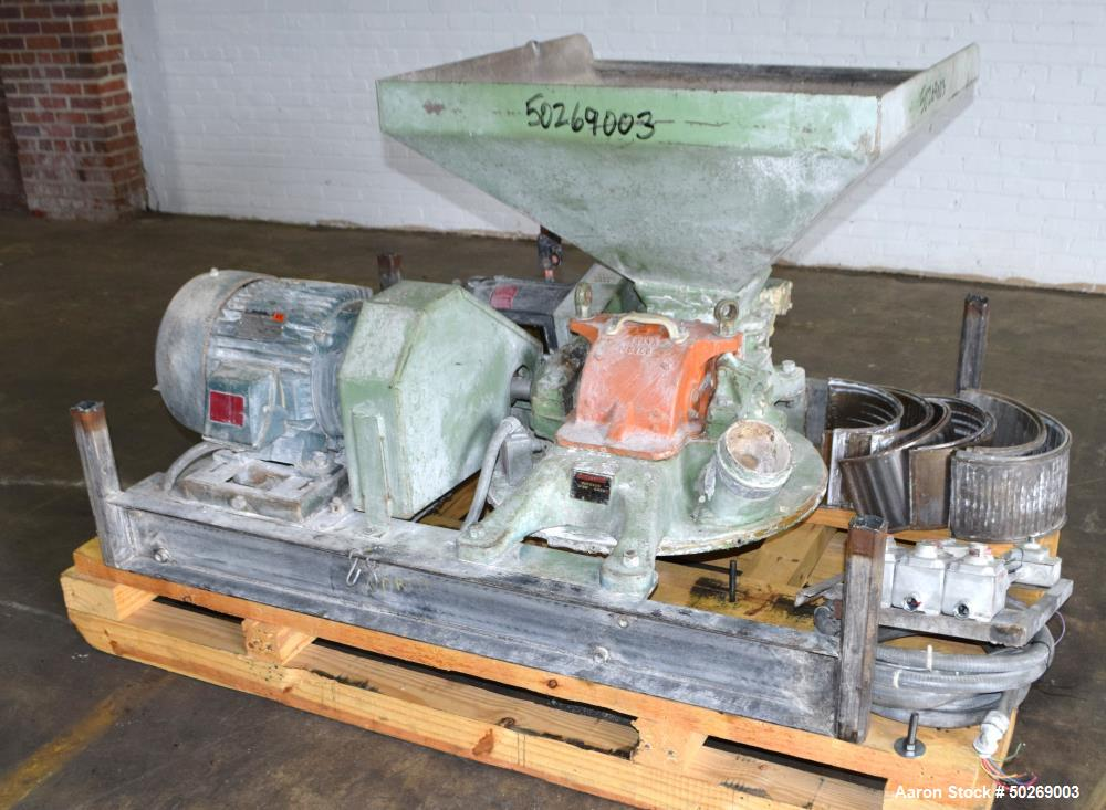 Used- Mikro Pulverizer Hammer Mill, Model 2DH, Carbon Steel.