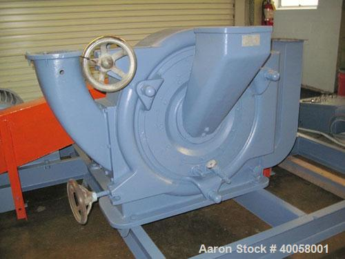 Used- Pallmann Attrition/Impact Turbo Mill, Model PP6, Carbon Steel. Approximate 600mm diameter grinding chamber, 26 cubic m...