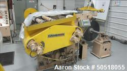 Used-CAMERON SLITTING STATION, 15 HP MARATHON ELECTRIC MOTOR, ROLL STAND