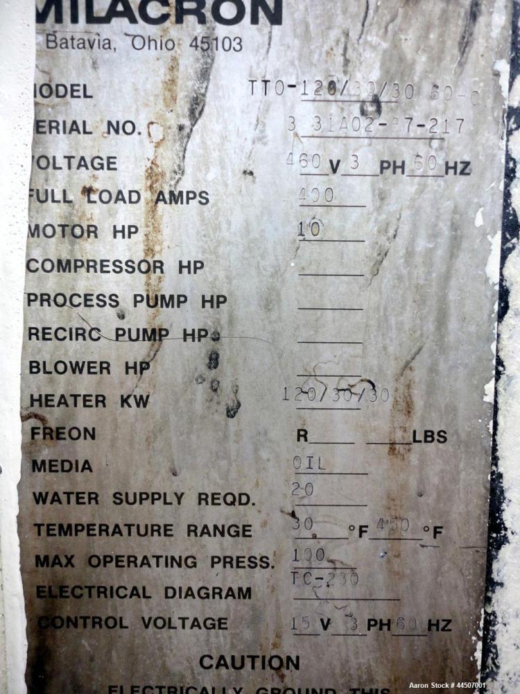 used cincinnati milacron hot oil heater model t used cincinnati milacron hot oil heater model tt0 120 30 30