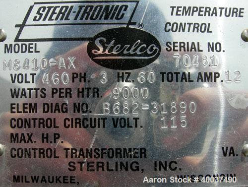 Used- Sterlco Hot Water Temperature Controller, Model M8410-AX. 3/60/460 volt, 12 amp, 9 kw.