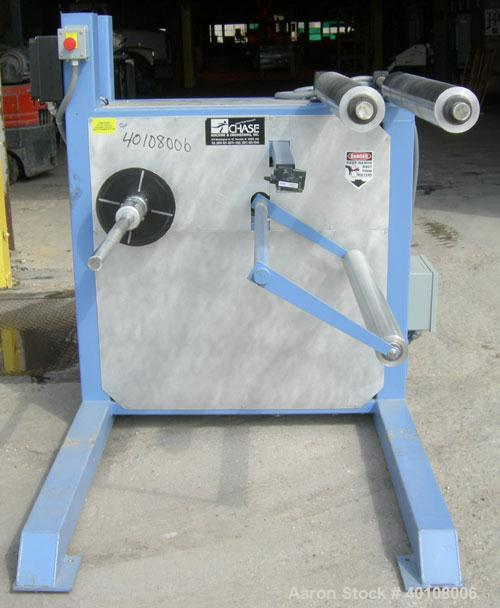 """Used:Chase Machine and Engineering unwind unit. Single station. Approximately 30"""" wide capacity.Driven by a 1/2hp,180 volt, ..."""