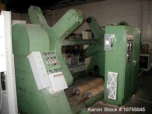 "Used-Davis Standard / Hobbs Model 4TP4A 72"" wide single turret winder having four winding stations able to handle a 60"" roll..."
