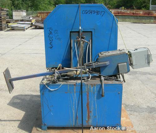 Used-L. Lunardon Unwind/Winder. Manual speed control, driven by a 2 hp, 180 volt, 2500 rpm DC motor.